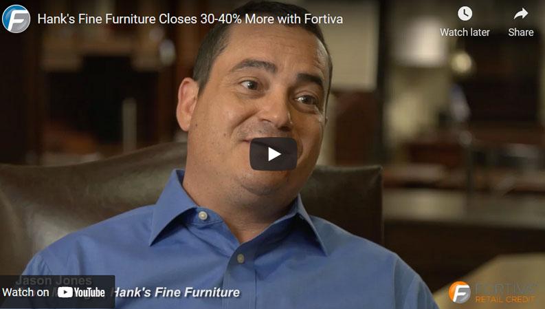 Hank's Fine Furniture Up 30-40%